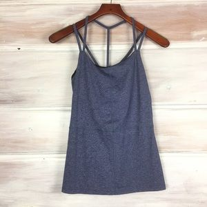 Karma Racerback Athletic Blue strappy Tank Top